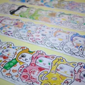 【キャラクター型はがき】九谷陶芸村の「Love招き猫ゆっきー」