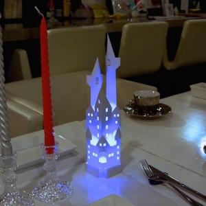 【ペーパークラフトのお城】cafe' non-diarioのクリスマス用ツール
